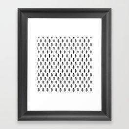 Hand drawn black and white tree Framed Art Print