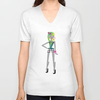 teen titans V-neck T-shirts featuring Teen by Mrwilliam Draw
