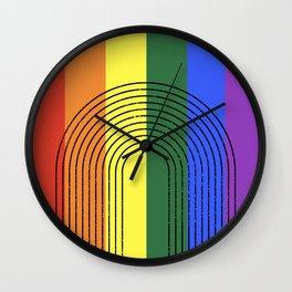 LGBTQ + Rainbow Love is Love Wall Clock
