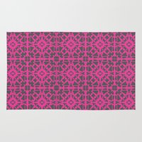 gray pattern Area & Throw Rugs featuring Magenta Gray pattern by xiari