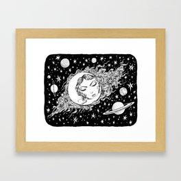 Midnight Muse Moon Love Framed Art Print
