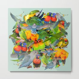 Parrots, parrots, parrots Metal Print