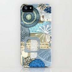 blue collage Slim Case iPhone (5, 5s)