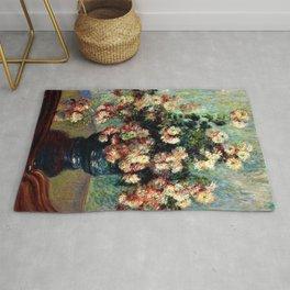 Chrysanthemums by Claude Monet Rug
