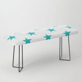 Stars (Eggshell Blue/White) Bench