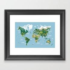 Planisphere Framed Art Print
