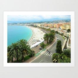 Promenade des Anglais, Nice, France Art Print