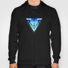 Abstract geometric triangle pattern (futuristic future symmetry) in ice blue Hoody