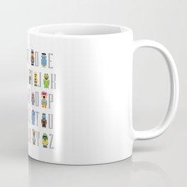 Pixel Muppet Show Alphabet Coffee Mug