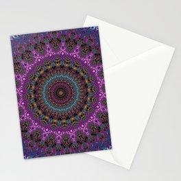 colorful fractal kaleidoscope Stationery Cards