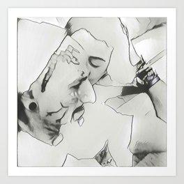 Kissy Love Art Print