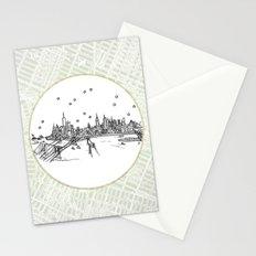 New York, New York City Skyline Stationery Cards