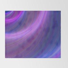 Purple storm Throw Blanket