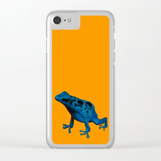 Blue Frog Clear iPhone Case