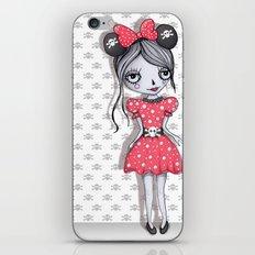 Minie Skull  iPhone & iPod Skin