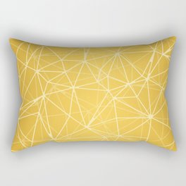 Mosaic Triangles Repeat Seamless Pattern gold Rectangular Pillow