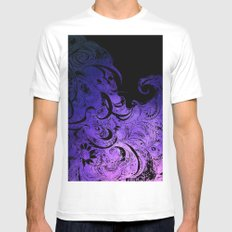 Purple Wave MEDIUM Mens Fitted Tee White