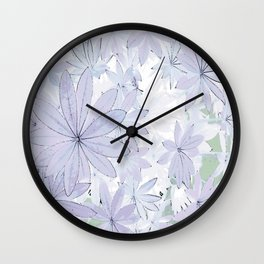 Lupin Leaves 2 Wall Clock