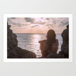 Waiting for the sunset Art Print