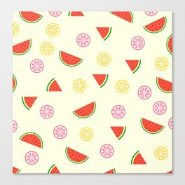 Lemons and watermelons Canvas Print