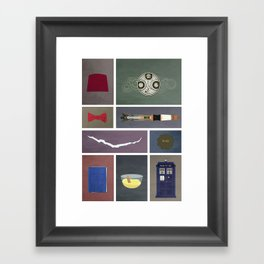 Eleven (Doctor Who) Colors Framed Art Print