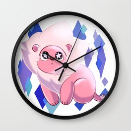 Starry Eyed Lion Wall Clock