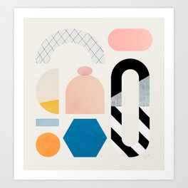 Abstraction_Shapes Art Print