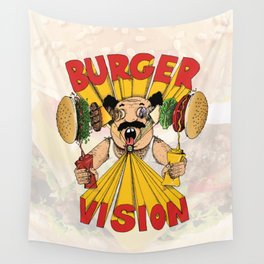 Burger Vision Wall Tapestry