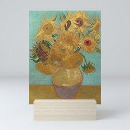 Vase with Twelve Sunflowers Mini Art Print