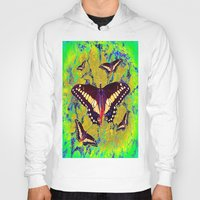 butterflies Hoodies featuring butterflies  by  Agostino Lo Coco