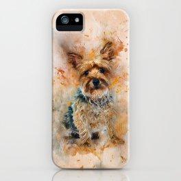Yorkshire Terrier Art iPhone Case