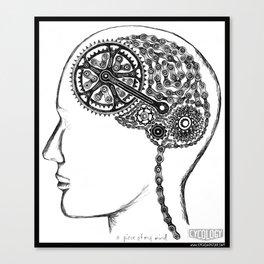 Bike Brain Canvas Print