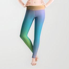 Pastel Rainbow Ombre Blur Design Leggings