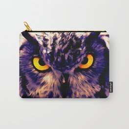 owl look digital painting reacls Carry-All Pouch