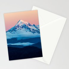 Alpenglow Mt Hood Stationery Cards