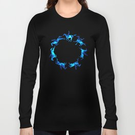 Showjumping Horse Sequence (Blue) Long Sleeve T-shirt