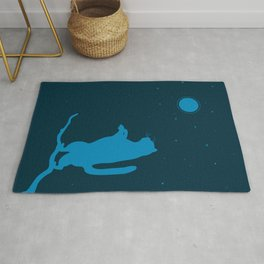 Sleepwalker. Cat illustration Rug