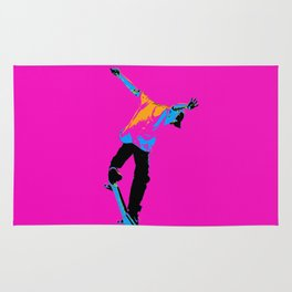 """Flipping the Deck"" Skateboarding Stunt Rug"