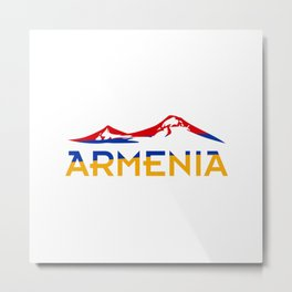 Armenia Ararat Hayastan flag #society6 #decor #buyart #artprint Metal Print