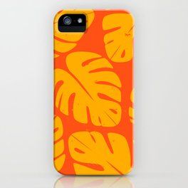 Monstera Leaf Print 1 iPhone Case
