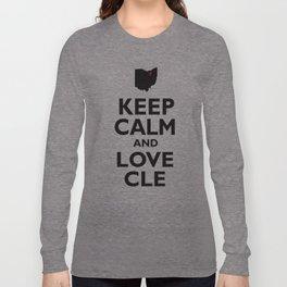 Keep Calm and Love CLE Long Sleeve T-shirt