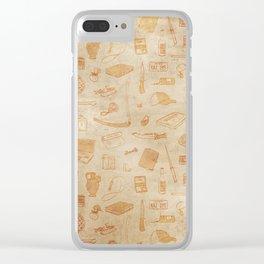Supernatural - Beige Clear iPhone Case