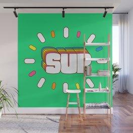 Sup! Colorful meme fun Wall Mural