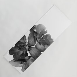 Black Geranium in White Yoga Mat