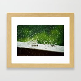 Spring Rain Drops Framed Art Print