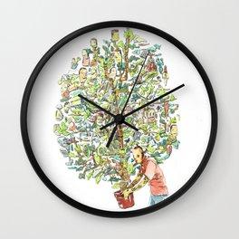 Doodle tree Wall Clock