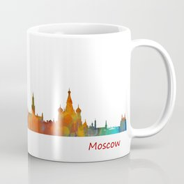 Moscow City Skyline art HQ v1 Coffee Mug