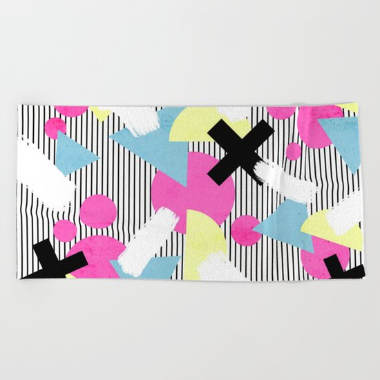 80's Theme Beach Towel