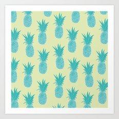 Pineapple Sorbet (yellow) Art Print