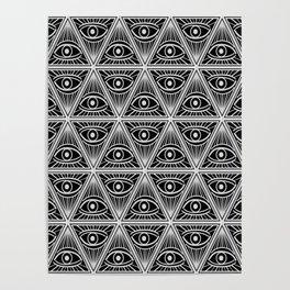 Third Eye Magic Geometric Pattern Poster